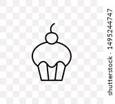 cupcake icon isolated on...