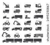 Icon Set  Heavy Duty Machines