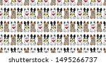 dog seamless pattern vector... | Shutterstock .eps vector #1495266737