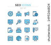 seo icons. vector line icons...   Shutterstock .eps vector #1495266824