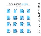 document icons. vector line... | Shutterstock .eps vector #1495269731