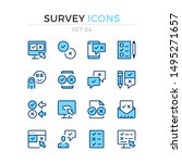 survey icons. vector line icons ... | Shutterstock .eps vector #1495271657