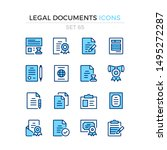 legal documents icons. vector... | Shutterstock .eps vector #1495272287
