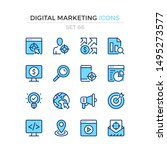 digital marketing icons. vector ... | Shutterstock .eps vector #1495273577