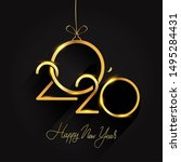 happy new year 2020   new year... | Shutterstock .eps vector #1495284431