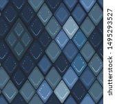 vector blue mosaic seamless...   Shutterstock .eps vector #1495293527