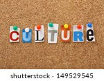 the word culture in cut out... | Shutterstock . vector #149529545