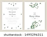 wedding invitations save the... | Shutterstock .eps vector #1495296311