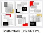 editable modern minimal square... | Shutterstock .eps vector #1495371191