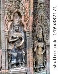Small photo of Idol of the Temple of Angkor Thom Siem Reap Siem Reap Southeast Asia