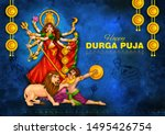 illustration of goddess durga... | Shutterstock .eps vector #1495426754