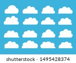 set of cloud icons in trendy... | Shutterstock .eps vector #1495428374