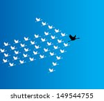 leadership and synergy concept... | Shutterstock .eps vector #149544755