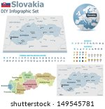 vector slovakia political and... | Shutterstock .eps vector #149545781