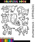 cartoon coloring book page or... | Shutterstock .eps vector #149546261
