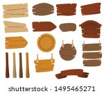 Set Of Vector Wooden Signs....