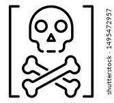 death hacker attack icon....   Shutterstock .eps vector #1495472957