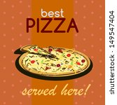 """best pizza served here"" vector ... 