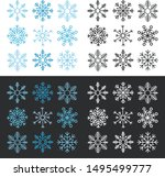 colorful snowflake collection... | Shutterstock .eps vector #1495499777