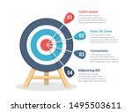 target with four arrows  three... | Shutterstock .eps vector #1495503611