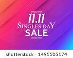 november 11 singles day sale.... | Shutterstock .eps vector #1495505174