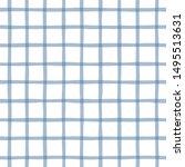 blue plaid minimalist vector... | Shutterstock .eps vector #1495513631