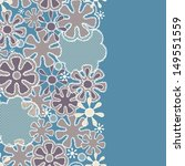 seamless abstract lace floral... | Shutterstock . vector #149551559