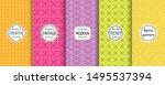 vector geometric seamless...   Shutterstock .eps vector #1495537394