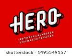 comics super hero style font... | Shutterstock .eps vector #1495549157