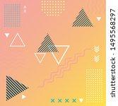 abstract memphis background... | Shutterstock .eps vector #1495568297
