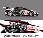car wrap  decal  vinyl sticker... | Shutterstock .eps vector #1495580594