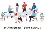 collection of business people... | Shutterstock .eps vector #1495585427