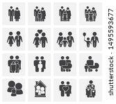family related on background... | Shutterstock . vector #1495593677