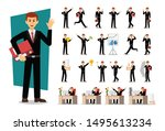 set of businessman character... | Shutterstock .eps vector #1495613234