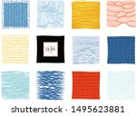 set of abstract square... | Shutterstock .eps vector #1495623881