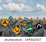 direction uncertainty with a... | Shutterstock . vector #149562527