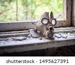 Old Children's Gas Mask Inside...