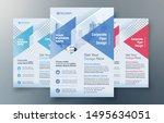 corporate flyer design template ... | Shutterstock .eps vector #1495634051