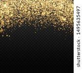 vector gold glitter backdrop.... | Shutterstock .eps vector #1495635497
