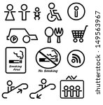 signs in the department store | Shutterstock .eps vector #149563967
