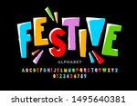 bright festive style font... | Shutterstock .eps vector #1495640381
