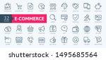 e commerce  online shopping and ... | Shutterstock .eps vector #1495685564