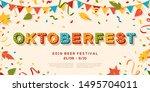 oktoberfest banner vector... | Shutterstock .eps vector #1495704011