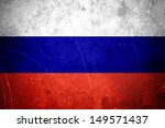 grunge russian flag with... | Shutterstock . vector #149571437