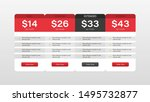 flat pricing table for website. ...