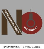 world day against the death... | Shutterstock .eps vector #1495736081