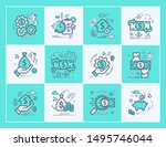 set vector line icons in flat... | Shutterstock .eps vector #1495746044
