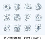 set vector line icons in flat... | Shutterstock .eps vector #1495746047