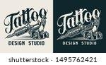 vintage tattoo studio... | Shutterstock .eps vector #1495762421