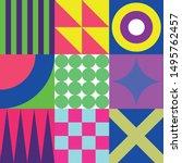 trendy geometric elements.... | Shutterstock .eps vector #1495762457